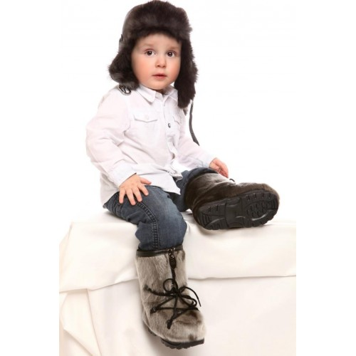 1a8a65718 Bilodeau, bottes bébé, loup marin naturel - Boutique L'Orignal Fringant