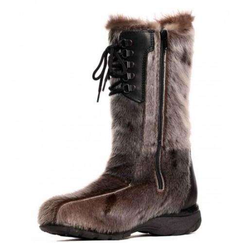 adf930df1363 ... Bilodeau - KAMINAK Boots in Natural Seal Fur and natural Beaver Fur