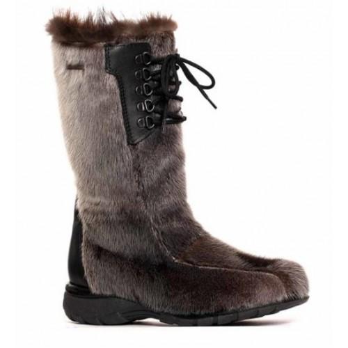 d9b55c4600e1 Bilodeau - KAMINAK Boots in Natural Seal Fur and natural Beaver Fur ...