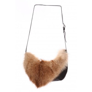 Bilodeau - OLIVIA Hand Bag, red coyote fur
