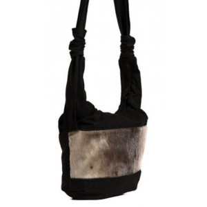 Bilodeau - JADE Leather Handbag with Seal Fur