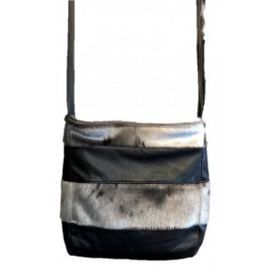 Bilodeau - PATCHWORK Leather Handbag with Seal Fur