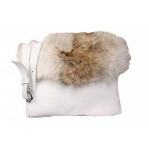 Bilodeau - VICTORIA Hand Bag, Natural Coyote Fur