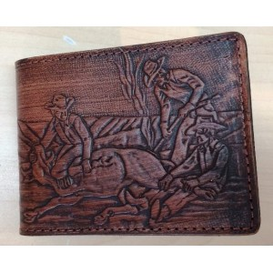 Les Cuirs Mario - Leather Wallet, cowboy model