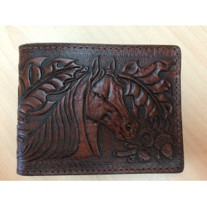 Les Cuirs Mario - Leather Wallet, horse model