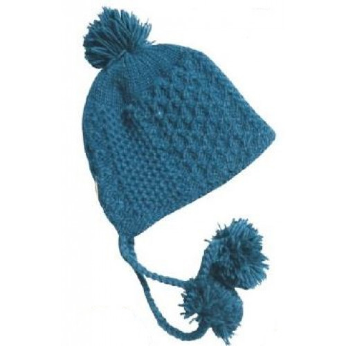 b27a12525cd87 Bonnet en laine avec pompons, turquoise profond - Boutique L'Orignal ...